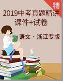 【备考2020】2019年浙江各地区中考语文试题精讲(课件+原卷+参考答案)
