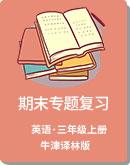 牛津译林版 小学英语 三年级上册 期末专题复习