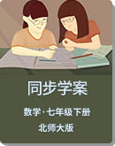 初中数学 北师大版 七年级下册 同步学案
