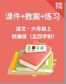 人教統編版(五四學制)語文六年級上冊同步課件+教案+練習