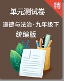 2019-2020学年统编版道德与法治九年级下册单元测试卷