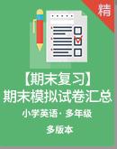 【期末复习】2019-2020年上学期小学英语多版本多年级期末模拟试卷汇总(含答案)