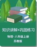 苏教版 八年级上册 物理 教学讲义,复习补习资料(含知识讲解,巩固练习)