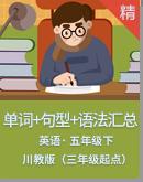 川教版(三年級起點)五年級下冊英語知識點匯總(單詞﹢句型﹢語法)