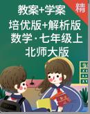 【专题讲义】北师大版数学七年级上册  教案+学案(培优版+解析版)