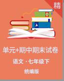 统编版语文七年级下册单元+期中期末测试卷