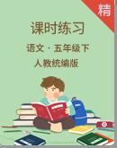 2020统编版语文五年级下册 同步课时练习