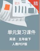 人教PEP版五年級下冊英語單元復習課件