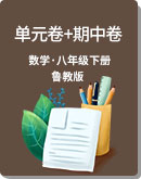鲁教版(五四制)八年级下册 数学 单元卷+期中卷