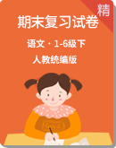 【2020统编版】语文1-6年级下册 期末复习试卷含答案