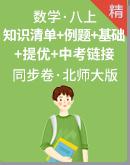 北师大版数学八年级上册 同步练习(知识清单+经典例题+夯实基础+提优特训+中考链接)