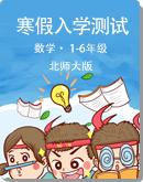 小学数学 北师大版 1—6年级 寒假入学测试卷(pdf无答案)