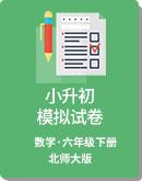 2020年北师大版 小学数学 六年级下册 小升初 模拟试卷(解析版)