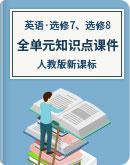 课课击破 人教版新课标 英语 高二下学期 选修7、选修8 全单元知识点课件