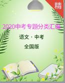 2020年全国各地中考语文专题分类汇编 练习版+答案版