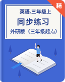 外研版(三年级起点)三年级上册英语同步练习(含答案)