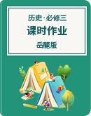 高中历史 岳麓版 必修三文化发展历程  课时作业