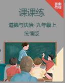 人教统编版道德与法治九年级上册课课练