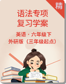 外研版(三年級起點)六年級下冊語法專項復習學案(含答案)