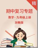 【2020年】浙教版数学九年级上册 期中复习专题
