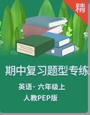 人教PEP版六年级上册英语期中复习题型专项练习(含答案及解析)