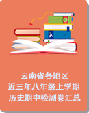 (2020年秋)云南省各地近三年八年級上學期歷史期中檢測卷匯總