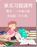 小学数学 青岛版(六三制) 一年级上册 单元习题课件