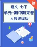 人教统编版语文七年级下册 单元测试+期中期末试卷(含解析)