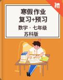 【寒假专区】苏科版数学七年级 寒假作业复习+预习