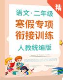 【寒假专项】统编版语文二年级 寒假专项衔接训练含答案