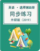 高中英语 外研版(2019) 选择性必修 第四册 同步练习(含解析)