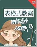 人教版英语八下五栏式全单元表格式教案