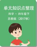 苏教版(2017秋)科学 四年级下册 单元知识点整理
