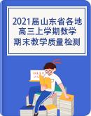 2021届山东省各地高三上学期期末教学质量检测数学试题