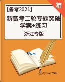 【新高考浙江专版】备考2021新高考数学二轮复习专题突破 学案+练习