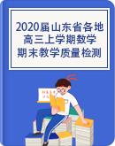 2020届山东省各地高三上学期期末教学质量检测数学试题