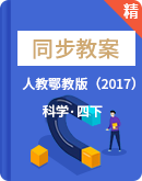 2021年科学人教鄂教版(2017)四年级下册同步教案