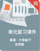 北京版六年级下册英语单元复习课件