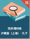 沪教版(上海)化学九年级下册同步课时练