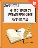 【备考2021】中考数学冲刺复习 压轴题专项训练