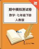【期中復習】人教版數學七年級下冊 期中模擬測試卷(含解析)