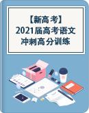 【新高考】2021届高考语文冲刺高分训练(含答案)