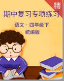 【期中专项】统编版语文四年级下期中专项复习练习(含答案)