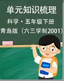 青岛版(六三学制2001)科学五年级下册各单元知识梳理