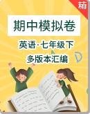 【期中模拟】2021年英语七年级下册测试卷(多版本汇编)