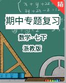浙教版七年级数学下学期期中复习专题(含解析)