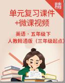 人教精通版(三年级起点)五年级下册英语单元复习课件+微课