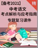 【考点解析与应考指南】2021中考语文 专题复习课件
