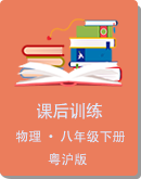 2021年粤沪版物理八年级下册课后训练 (含答案)