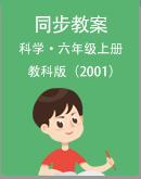 小学科学教科版(2001)六年级上册同步授课教案